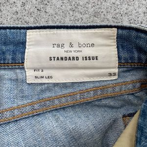 Rag and bone jeans light wash fit 2 slim size 33